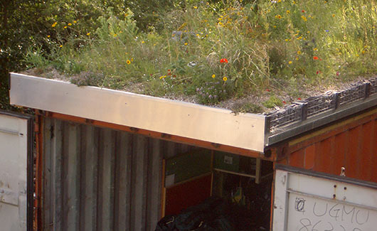 Green Roofed Storage Container