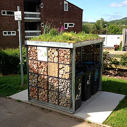 Green-roofed Bin Storage