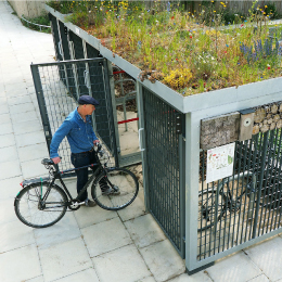 Green-roofed Cycle Shelter